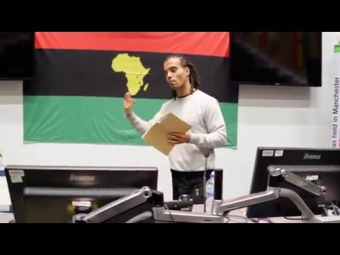 Akala speaks at the 70th commemoration conference of the 1945 Pan African Congress, Manchester